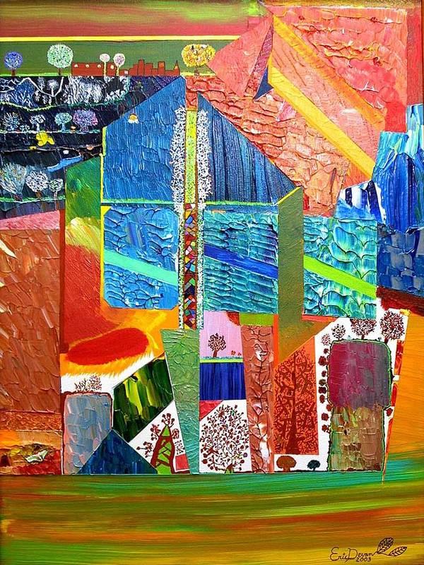 Underground Art Print featuring the painting The Secret Underground by Eric Devan