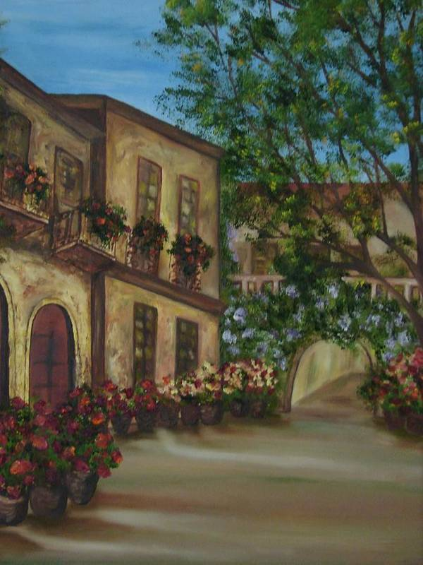 Cafe Art Print featuring the painting Tour Through The Villa by Shiana Canatella