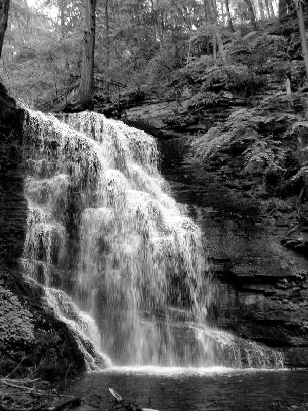 Waterfall Art Print featuring the photograph Waterfall by Jessica Dandridge