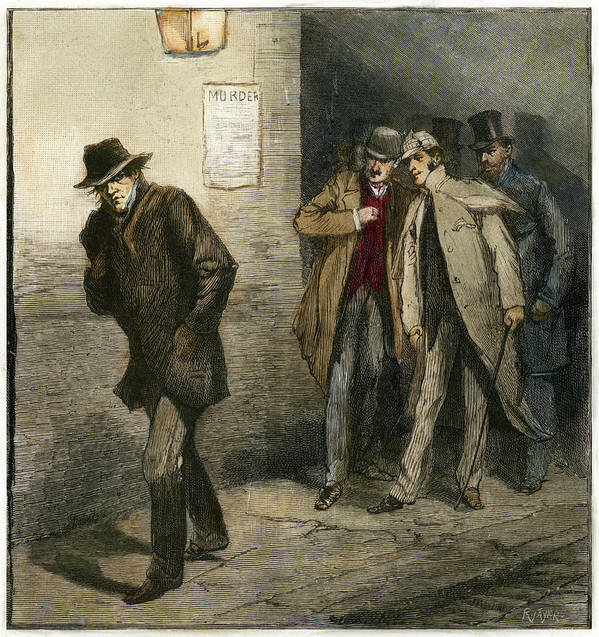 1888 Art Print featuring the painting Jack The Ripper by Granger