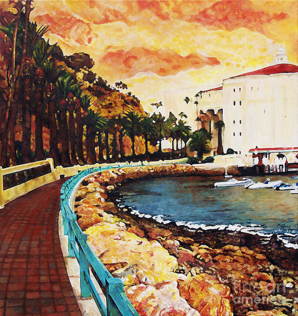 Catalina Island Art Print featuring the painting Catalina Island by Carrie Jackson