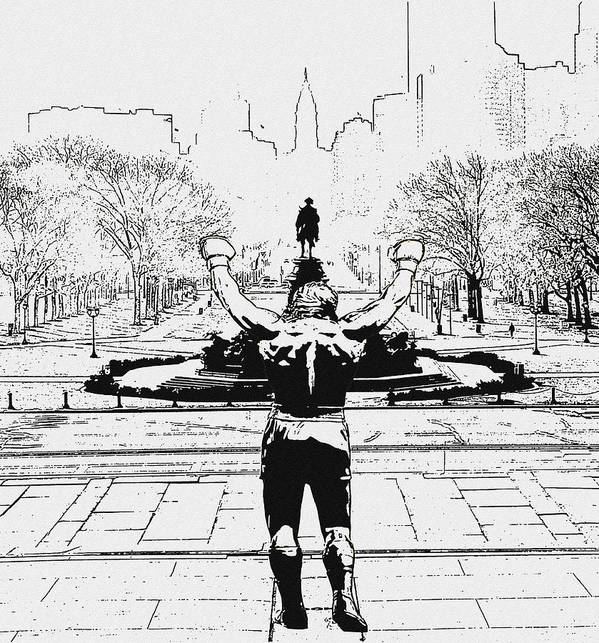 Rocky Art Print featuring the photograph Rocky Is Philadelphia by Bill Cannon