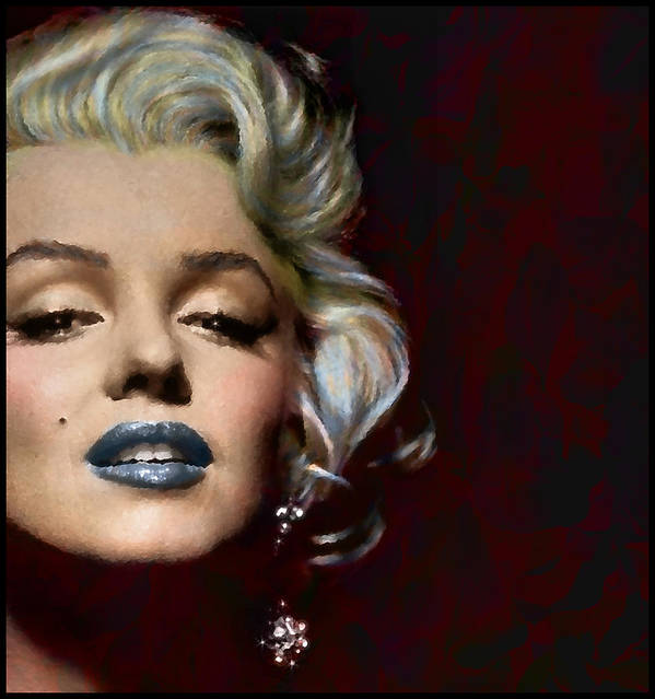 Marilyn Monroe Actress Legend Icon Hollywood Sex Symbol Movie Star Digital Painting Artist Glamour Woman Model Blonde Lips Sexy Art Print featuring the digital art Some Like It Hot by Marie Gale