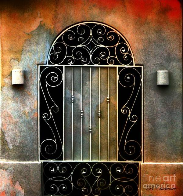 Gate Prints Art Print featuring the photograph Spanish Influence by Barbara Chichester