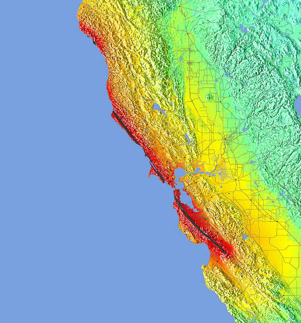 San Francisco Earthquake Map on