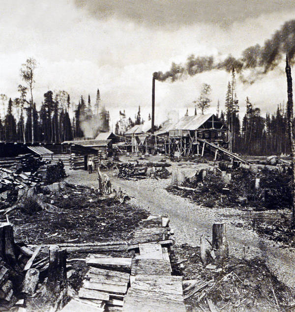 Concord Art Print featuring the photograph Concord New Hampshire - Logging Camp - C 1925 by International Images