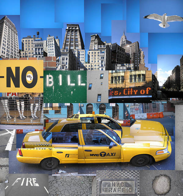 Collage Art Print featuring the digital art Rush Hour by Misha Dontsov
