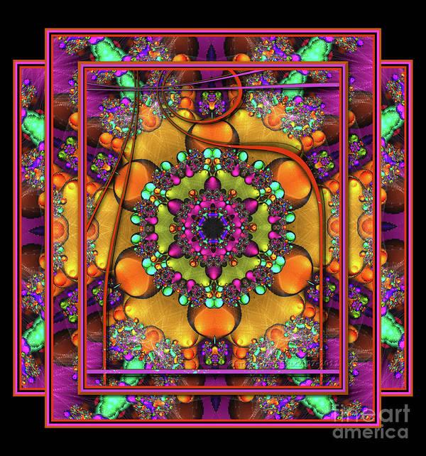 Mandala Art Print featuring the digital art 001 - Mandala by Mimulux patricia no No