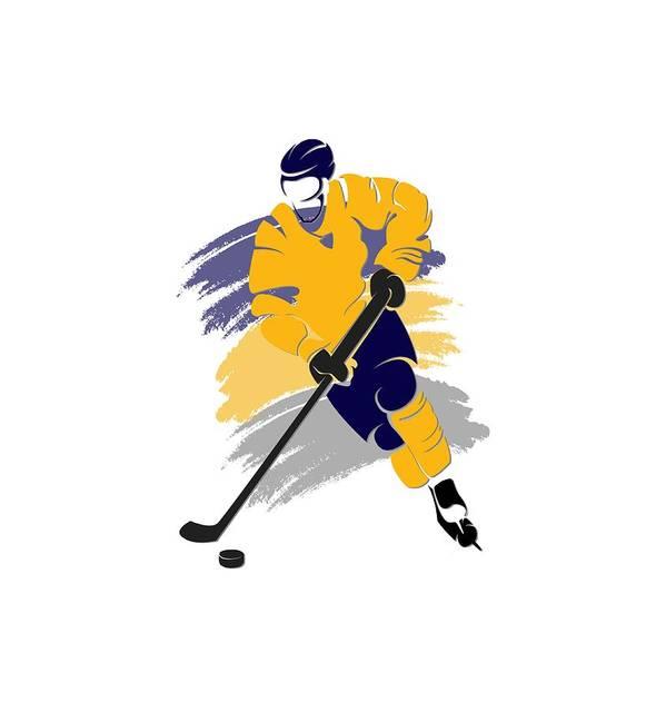 Sabres Art Print featuring the photograph Buffalo Sabres Player Shirt by Joe Hamilton