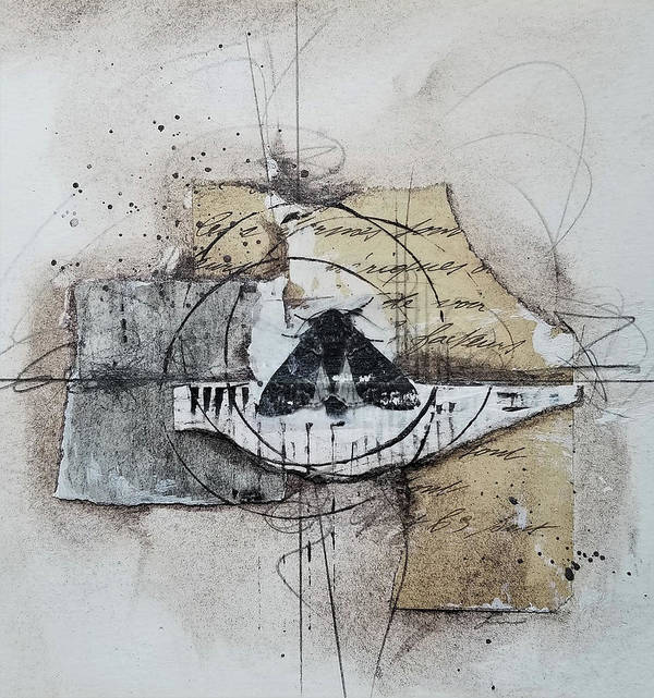 Collage Art Print featuring the mixed media Determination by Laura Lein-Svencner