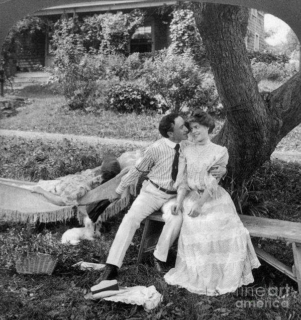 20th Century Art Print featuring the photograph Love, 1906 by Granger