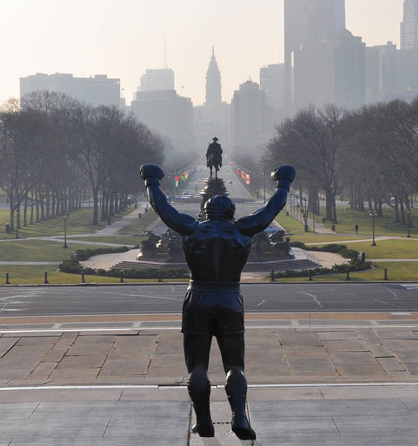 Philadelphia Champion - Rocky Print featuring the photograph Philadelphia Champion - Rocky by Bill Cannon