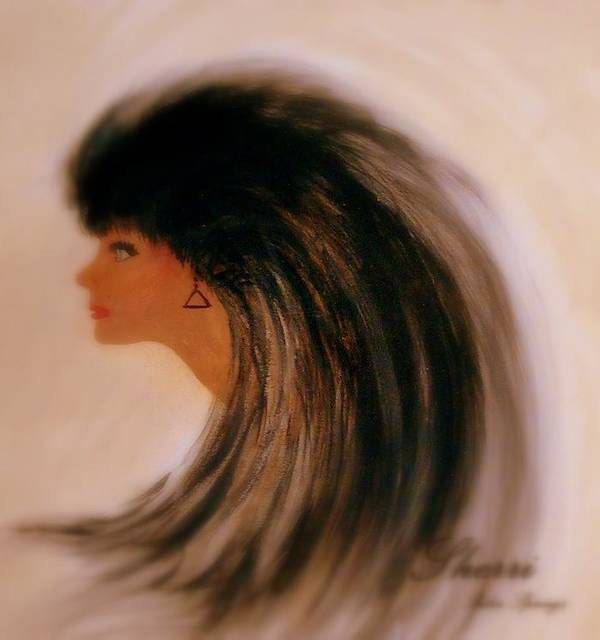 Portrait Art Print featuring the painting Portrait Of Lynnie by Sherri's - Of Palm Springs