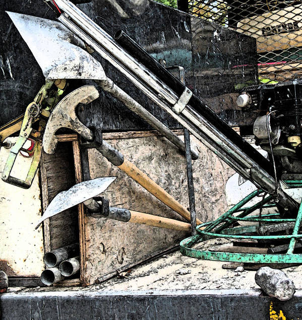 Construction Art Print featuring the photograph Power Trowel by Gary Everson