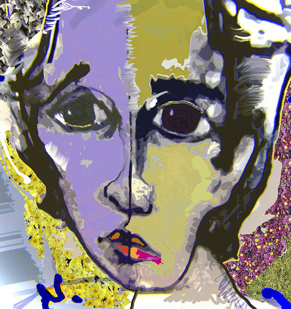 Portrait Art Print featuring the mixed media Projection by Noredin Morgan