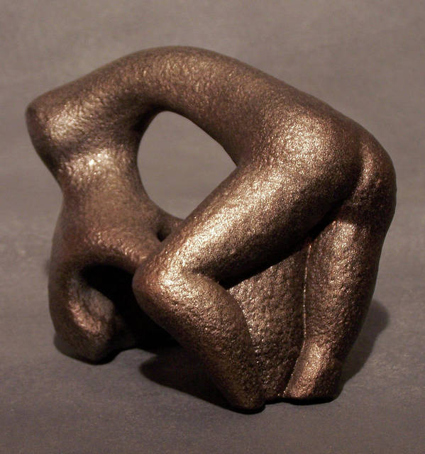 Sculpture Art Print featuring the sculpture Separation Of Earth From Body by Lonnie Tapia