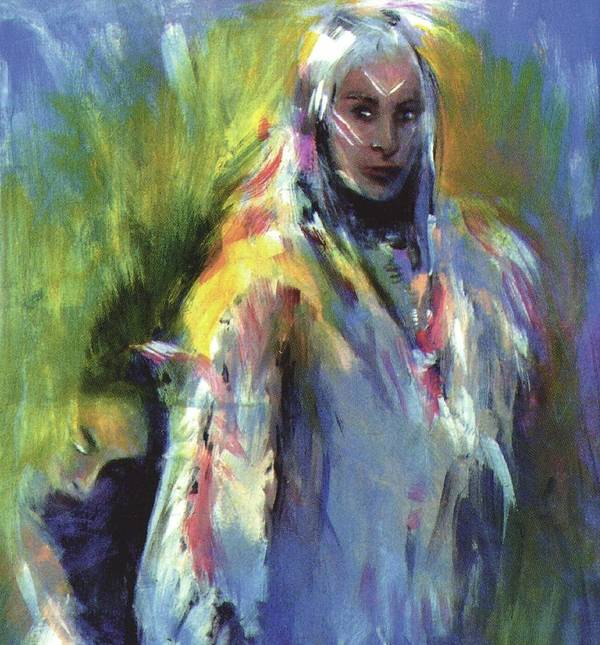 Native American Art Print featuring the painting Spirit Guide by Elizabeth Silk
