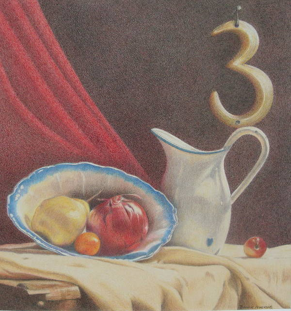 Still Life Art Print featuring the painting The Third Element by Bonnie Haversat