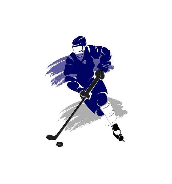 Maple Leafs Art Print featuring the photograph Toronto Maple Leafs Player Shirt by Joe Hamilton