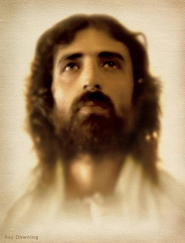 Jesus Art Print featuring the digital art Jesus In Glory by Ray Downing