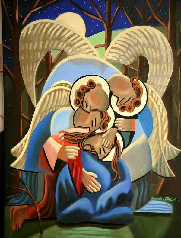 Jgethsemane The Hour Is Near Print featuring the painting Gethsemane The Hour Is Near by Anthony Falbo