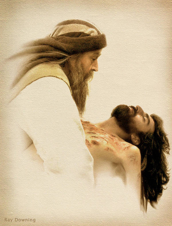 Jesus Art Print featuring the digital art Jesus Laid To Rest by Ray Downing