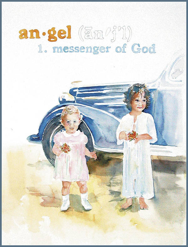 Angels Art Print featuring the painting Angel by Janice Crow