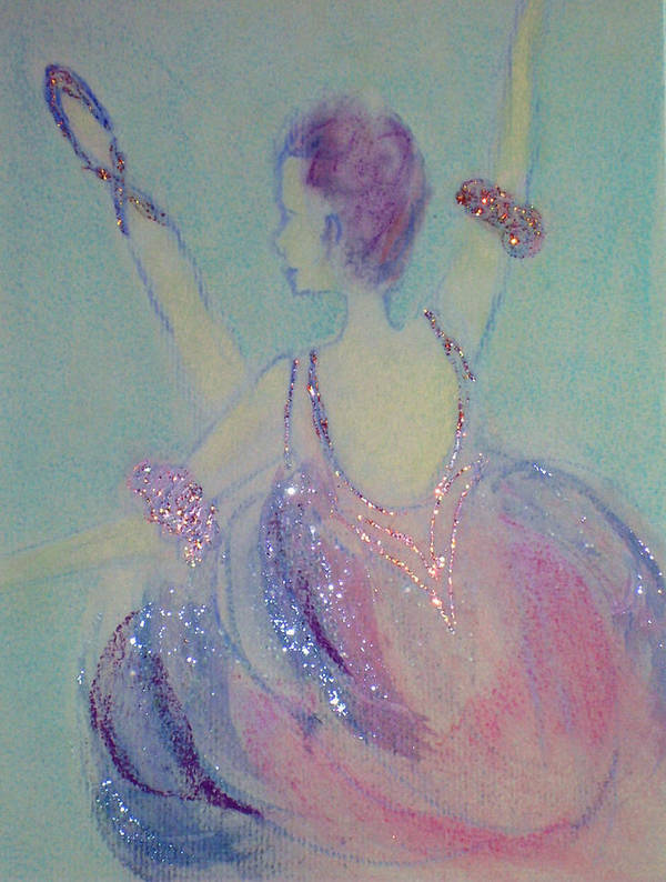 Dancer Art Print featuring the painting Dancer At The Follies by Michela Akers