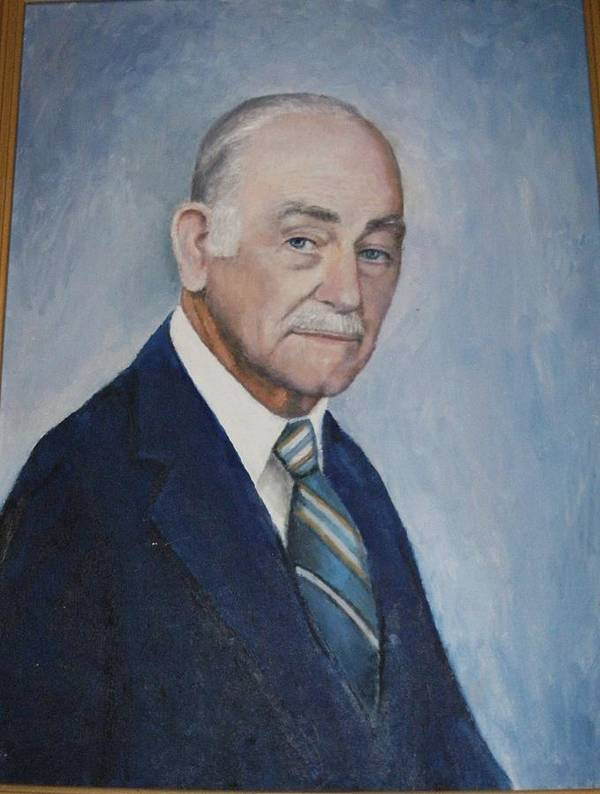 Sefportraitoilsmanartistdistinguished Daddy Love Art Print featuring the painting Edgar Turner Self-portrait by Anne-Elizabeth Whiteway