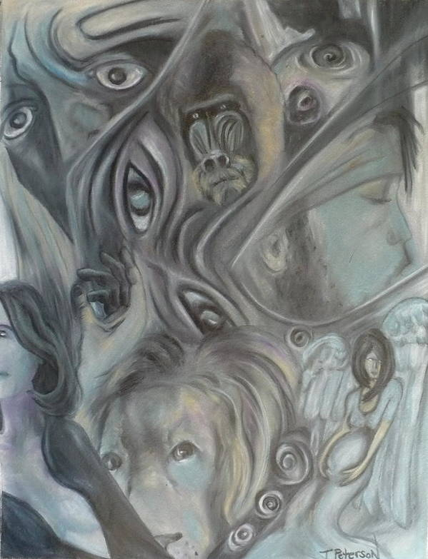 Dream Art Print featuring the painting In A Broken Dream by Todd Peterson
