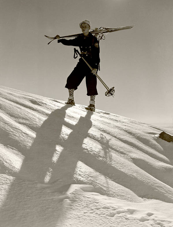 Skiing Art Print featuring the photograph Skier by Unknown