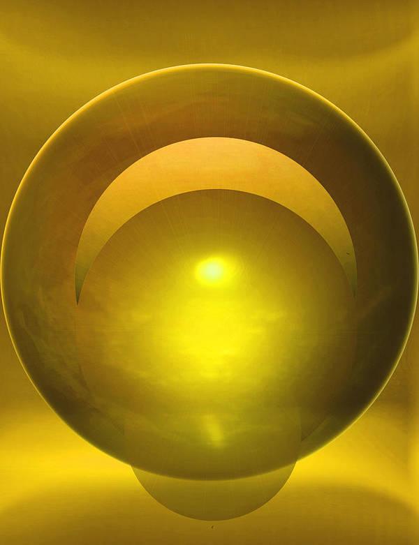 Abstract Art Print featuring the digital art Solstice by John Krakora