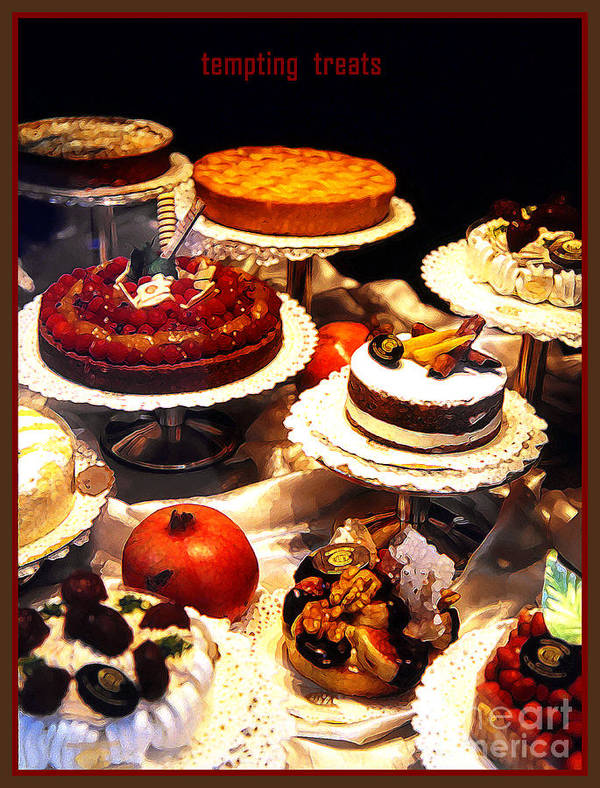 Impressionism Art Print featuring the photograph Tempting Treats by Linda Parker