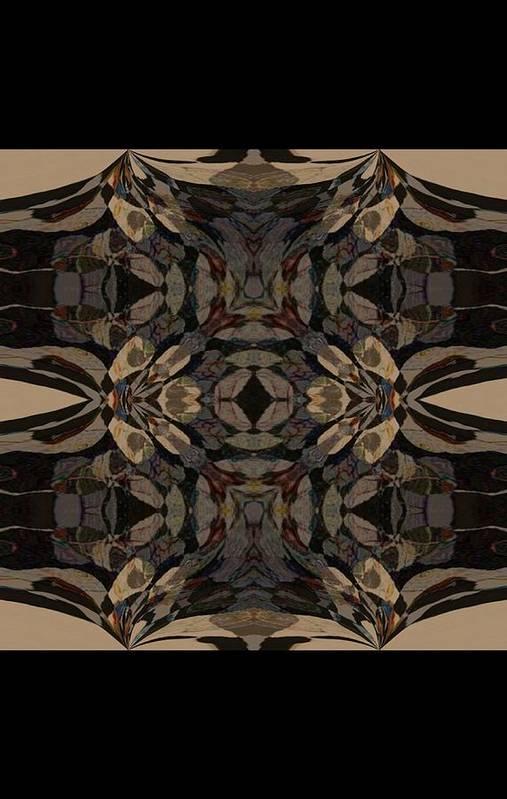 Abstract Wood Inlay Art Print featuring the digital art Wood Inlay by Amanji jill Duke