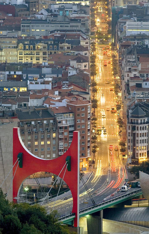 Spain Art Print featuring the photograph Bilbao Street by Rafa Rivas