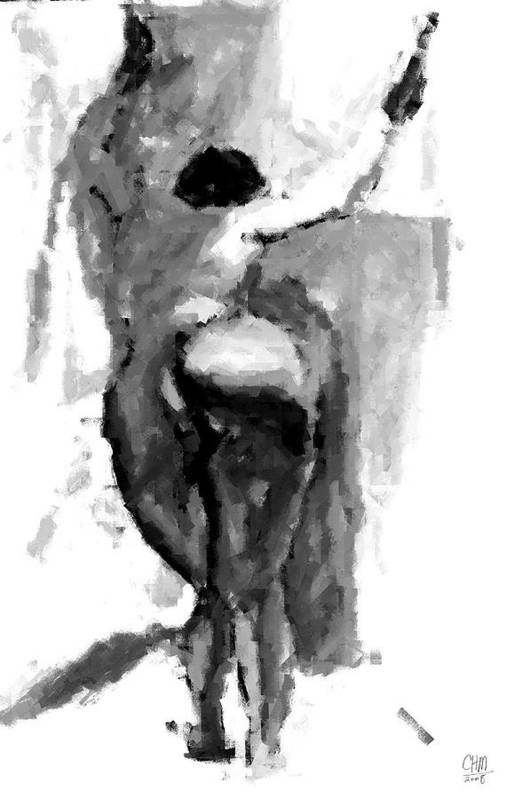 Figure Art Print featuring the drawing Study I by Cartoon Hempman