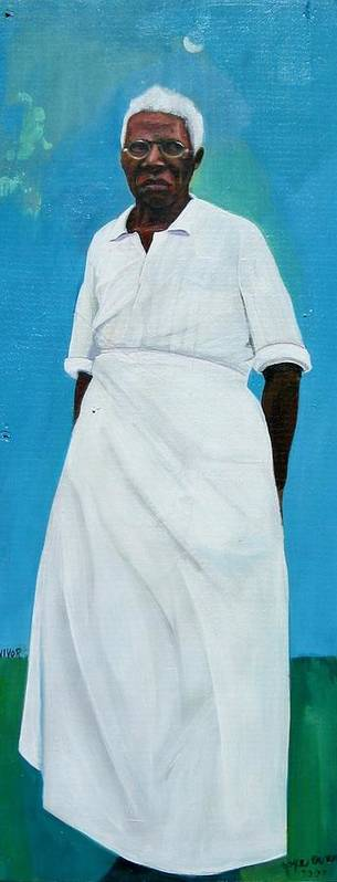African Art Print featuring the painting Survivor Spirit Emma by Joyce Owens