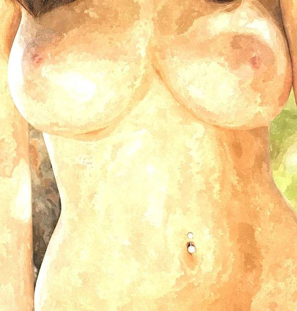 Nude Woman Art Print featuring the painting Nude Women by Snowflake Obsidian
