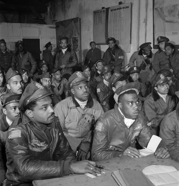 1945 Art Print featuring the photograph Tuskegee Airmen, 1945 by Granger