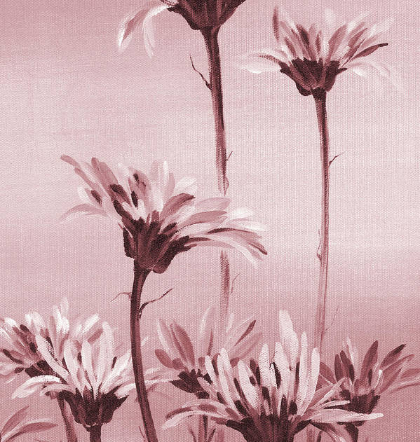 Gerberas Art Print featuring the painting Gerberas by Natasha Denger