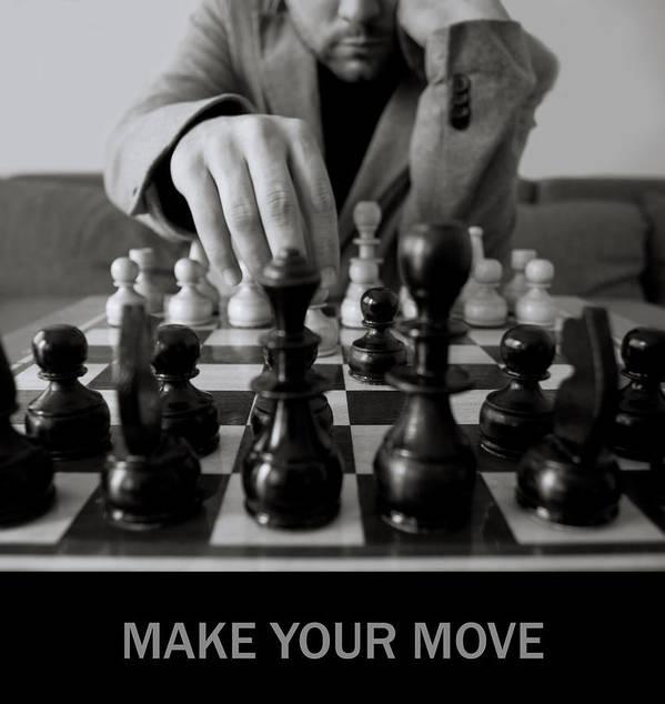 Black Art Print featuring the photograph Make Your Move by Svetoslav Sokolov