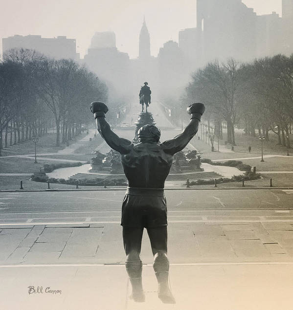 Rocky Art Print featuring the photograph Yo Adrian by Bill Cannon