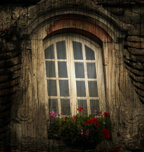 Window Art Print featuring the photograph As She Waits by Jerry Cordeiro