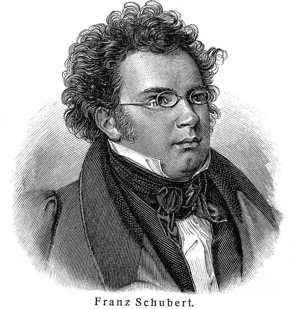 18th Century Art Print featuring the photograph Franz Schubert (1797-1828) by Granger