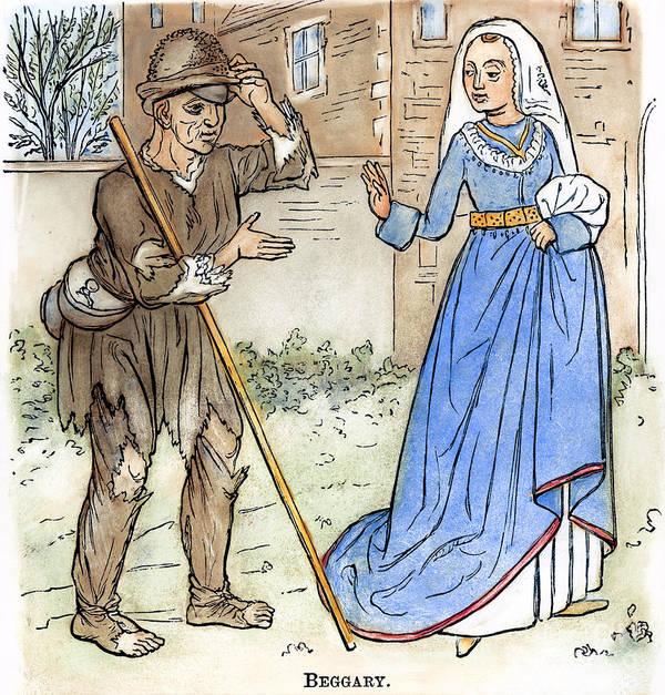 1330 Art Print featuring the photograph English Beggar, 1330 by Granger