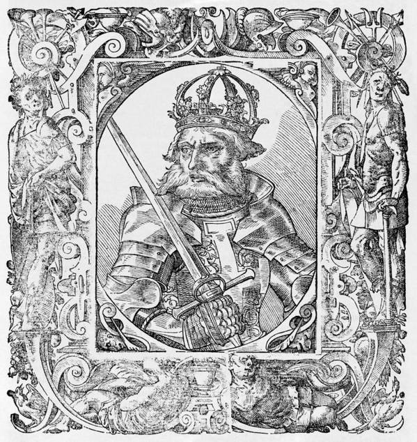 1100s Art Print featuring the photograph Frederick I Barbarossa Holy Roman Emperor by Middle Temple Library