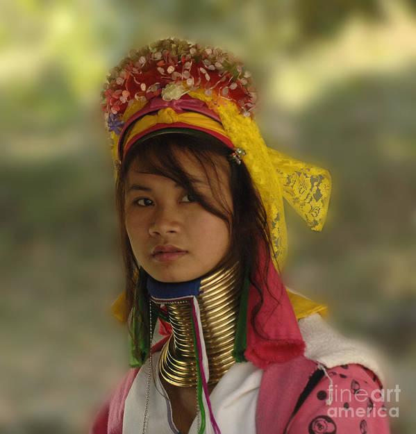 Thailand Art Print featuring the photograph Long Neck Beauty Karen Tribe by Bob Christopher