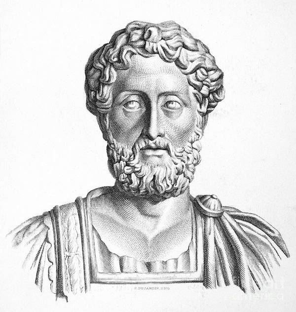 2nd Century Art Print featuring the photograph Lucius Commodus (161-192 A.d.) by Granger