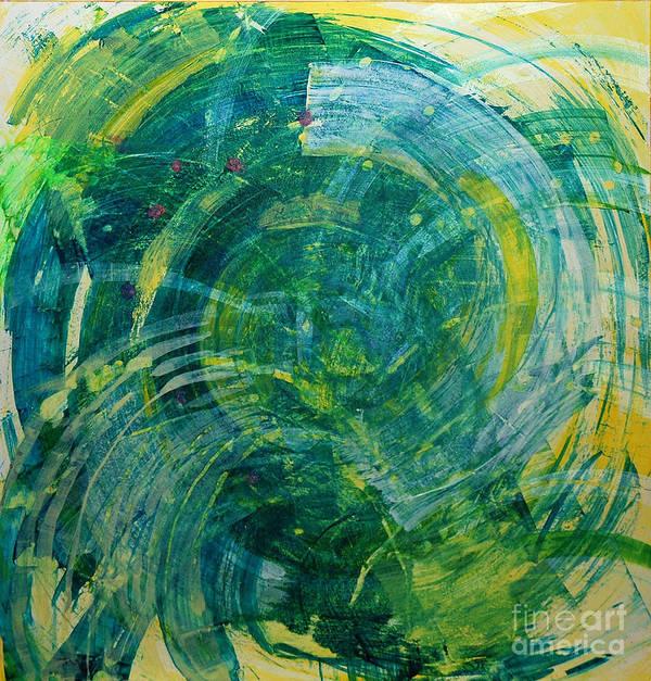 Www.artworkxofmann.com Art Print featuring the mixed media Whirlwind by Annette Gardiner