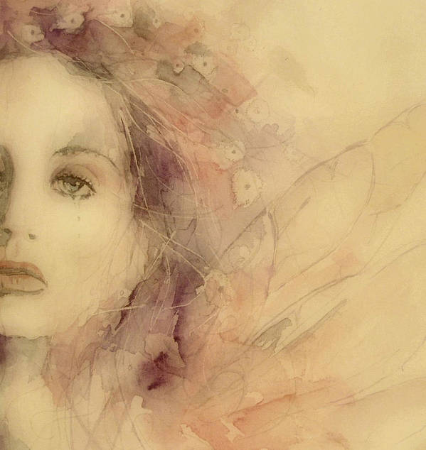 Marianne Faithfull British Art Print featuring the painting As Tears Go By by Paul Lovering